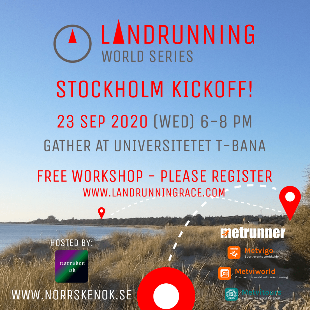 Landrunning™ Stockholm FREE Workshop 23 Sep 2020 (Wed) 6pm Universitet T-bana