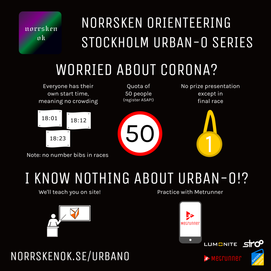 Norrsken Sthlm Urban-O series - COVID-19 precaution and ways to learn orienteering