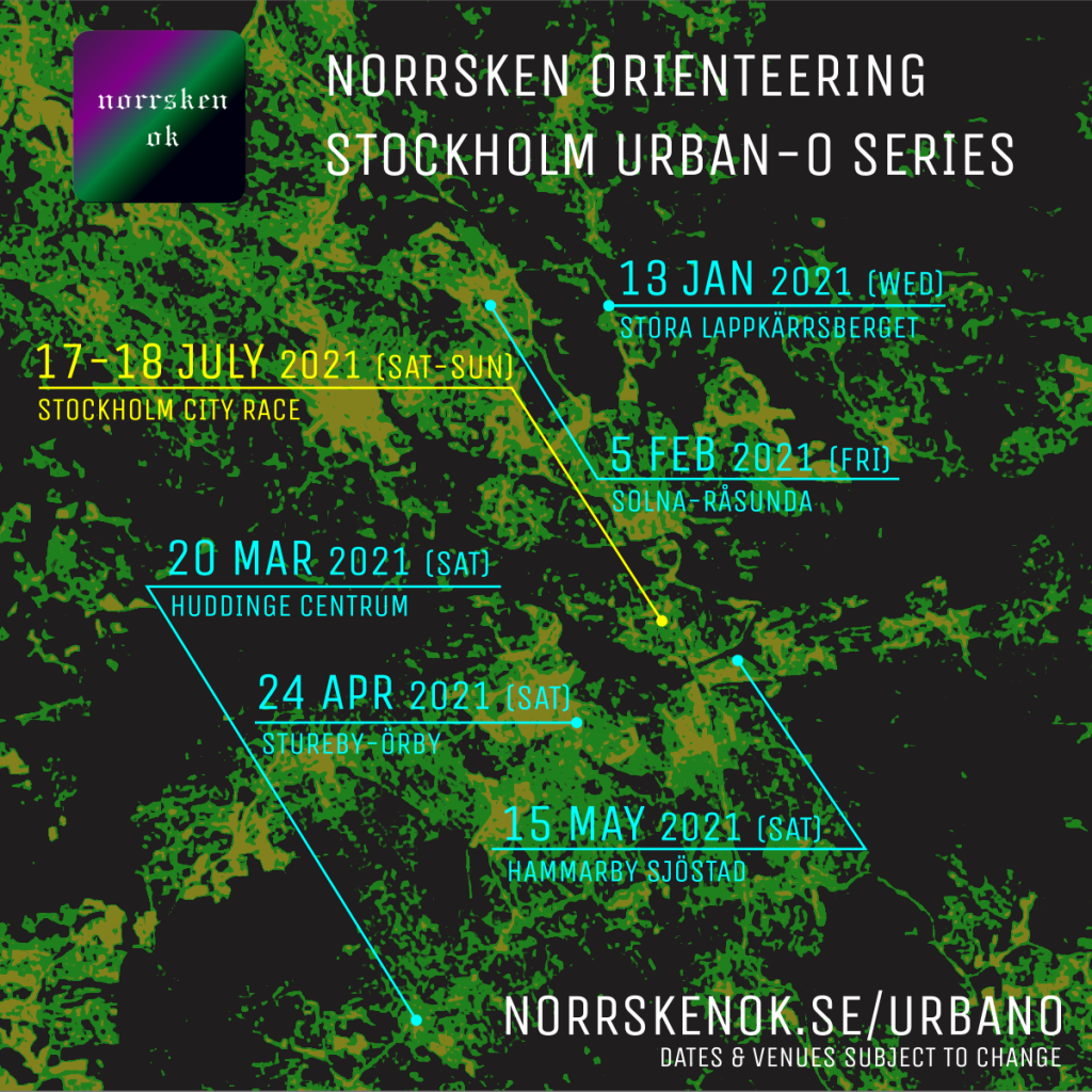 Norrsken Stockholm Urban Orienteering Series include multiple stations around the metropolis