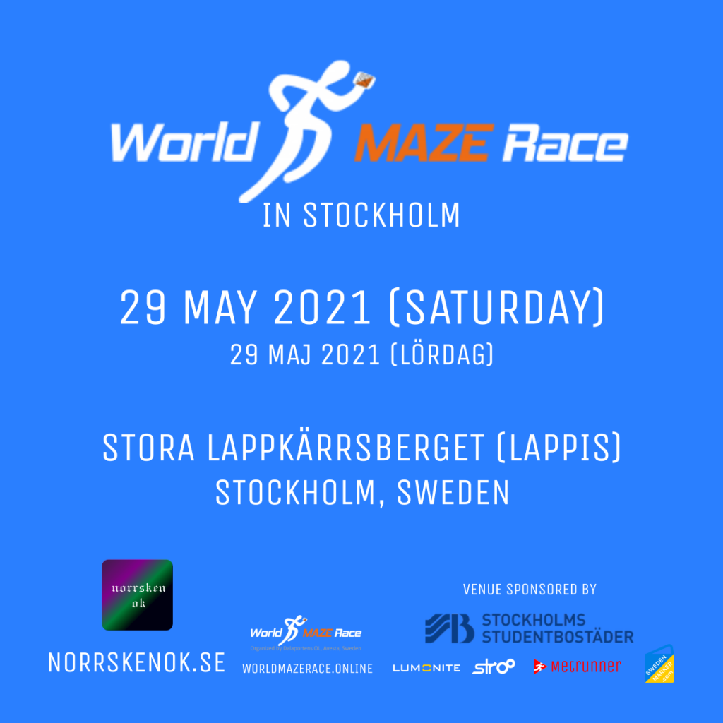 World Maze Race in Stockholm - 29 May 2021 (Saturday) at Lappis